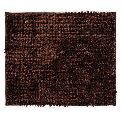 Koupelnová předložka Ella micro hnědá, 40 x 50 cm