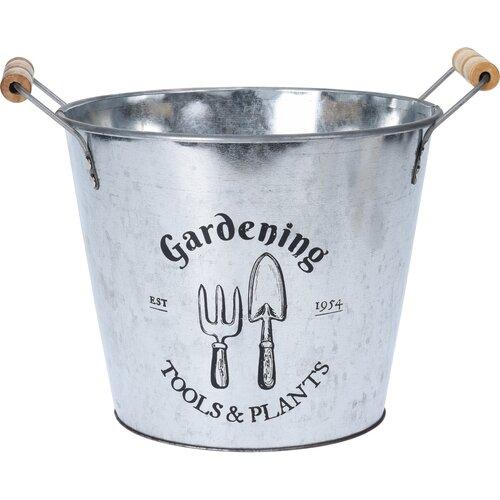 """Cynkowa osłonka na doniczkę Koopman """"Gardening"""", 24cm"""
