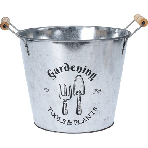 Koopman Zinkový obal na květináč Gardening, 24 cm