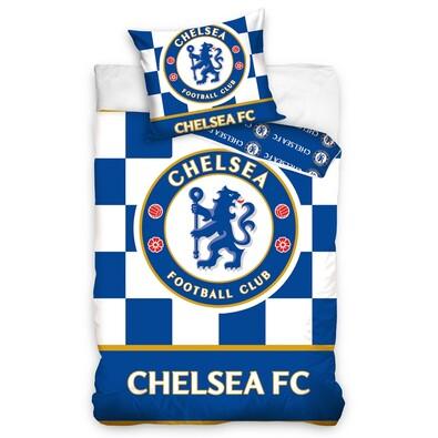 Chelsea FC Check ágyneműhuzatkék, 140 x 200 cm, 70 x 80 cm