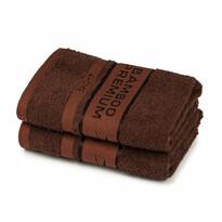 4Home Ręcznik Bamboo Premium ciemnobrązowy, 30 x 50 cm, komplet 2 szt.