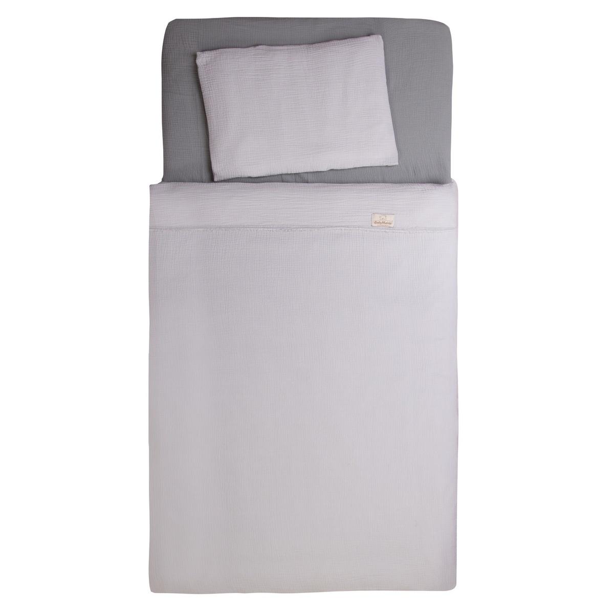 Babymatex Bavlnené obliečky do postieľky sivá, 100 x 135 cm, 40 x 60 cm