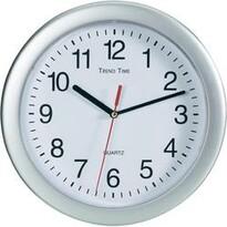 Analogové nástěnné hodiny stříbrná