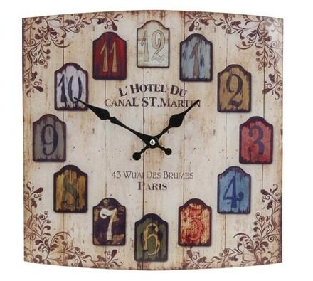Nástěnné hodiny Hotel du Canal skleněné