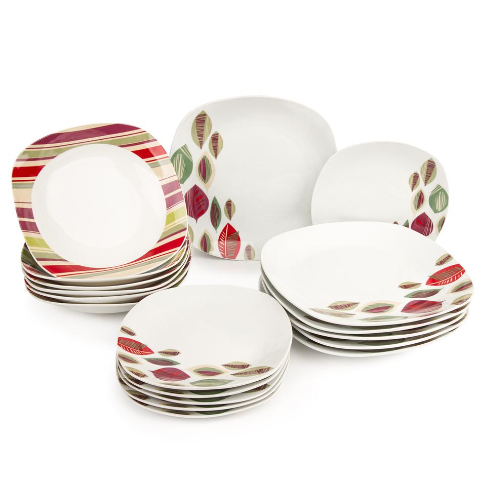 18dílná jídelní sada October, porcelán