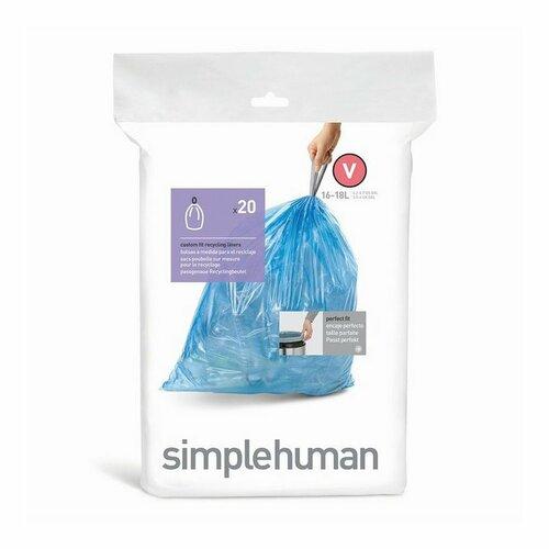 Simplehuman Vrecká do odpadkového koša V 16-18 l, 20 ks