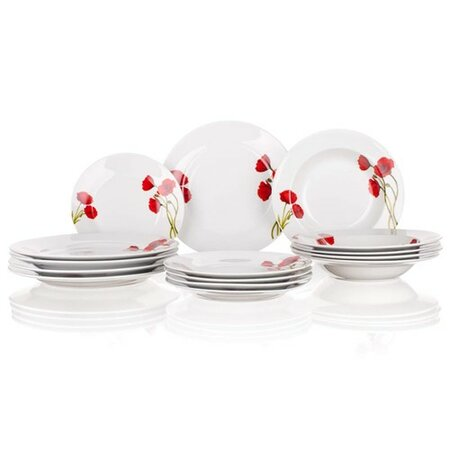 BANQUET Red Poppy 18-dielna tanierová súprava