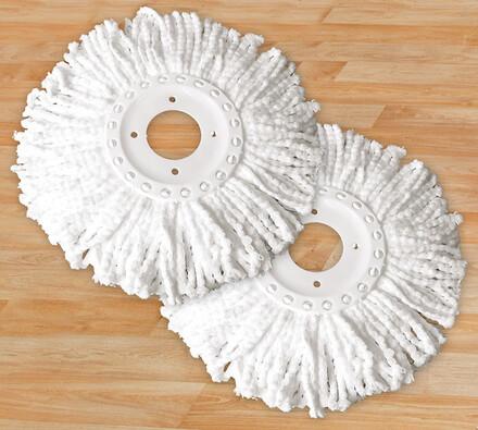 Náhradní nástavce na rotační mop, sada 2 ks, bílá