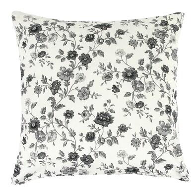 Polštářek Rita Plazivá kytka šedá, 40 x 40 cm