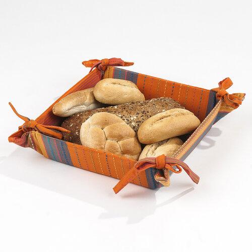 Košík na pečivo oranžový, 40 x 40 cm