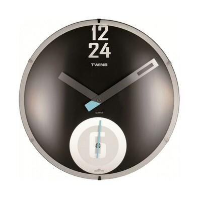 Twins 351 nástěnné hodiny černé