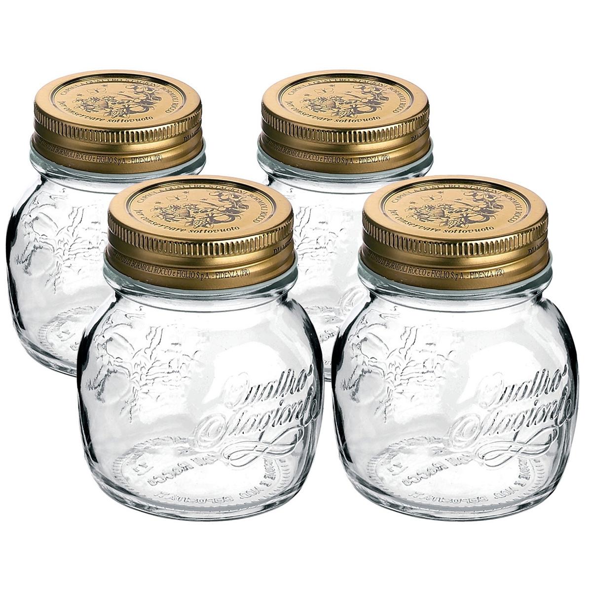 Bormioli Rocco 4dílná sada zavařovacích sklenic Quattro Stagioni, 150 ml