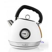 Nedis KAWK530EWT czajnik bezprzewodowy z termometrem, 1,8 l, biały