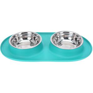 Dvojitá miska pro psa Bowl, modrá