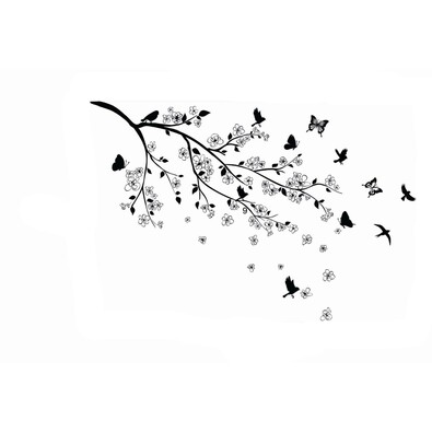 Samolepicí dekorace letíme z hnízda