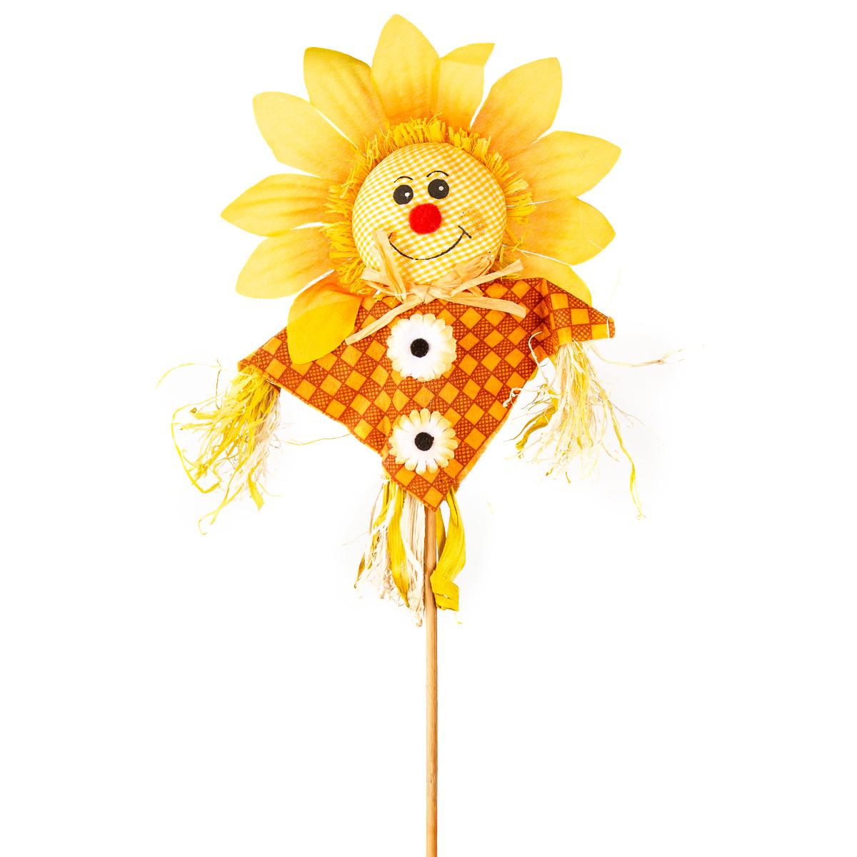 Zápich Strašák slunečnice žlutá, 53 cm