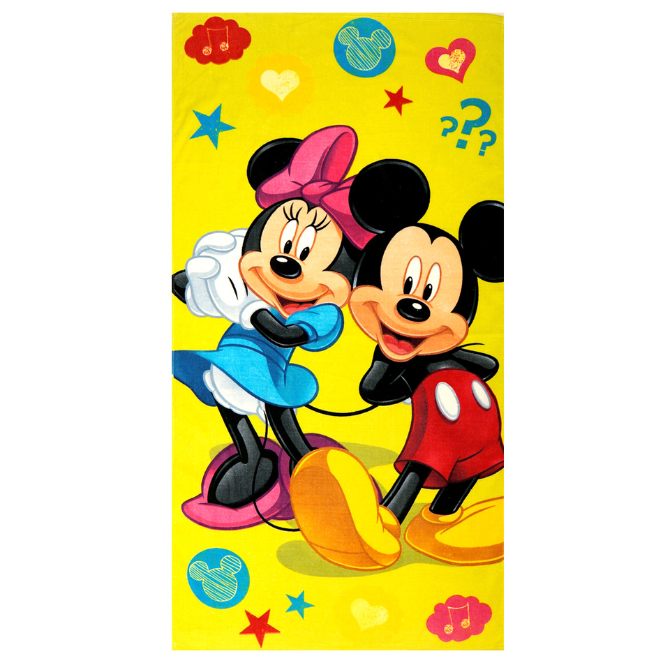 Jerry Fabrics Osuška Mickey a Minnie, 75 x 150 cm