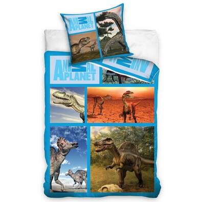 Bavlněné povlečení Animal Planet - Dinosauři, 140 x 200 cm, 70 x 80 cm