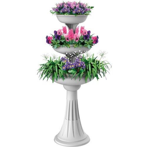 Kvetinová kaskáda Trevy biela, 50 x 114 cm