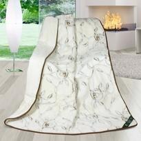 Pătură din lână DUO New Zealand Trandafiri, 155 x 200 cm