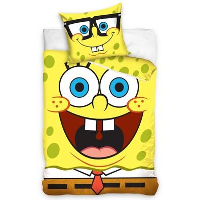 Detské bavlnené obliečky SpongeBob, 140 x 200 cm, 70 x 80 cm