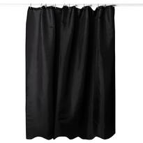 Draperie duş negru, 180 x 180 cm