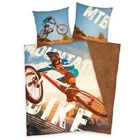 Herding Dziecięca pościel bawełniana Bike, 140 x 200 cm, 70 x 90 cm