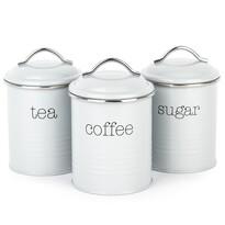 Set doze cafea, ceai  și zahăr, gri