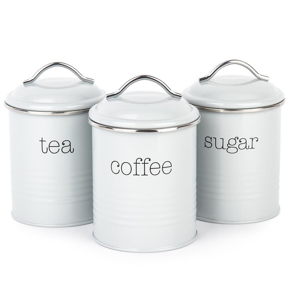 Koopman Sada dóz na kávu, čaj a cukr, šedá