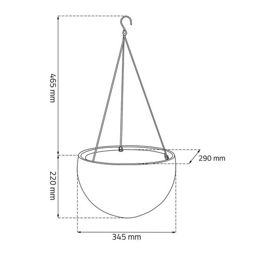 Keter Sphere mocca felakasztható virágtartó, átmérő: 35 cm