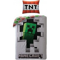 Lenjerie din bumbac Minecraft 107, 140 x 200 cm, 70 x 90 cm