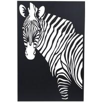 Závesná kovová dekorácia Zebra čierna,  30 x 40 cm