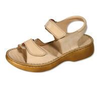 Orto Plus Dámské sandály se suchými zipy vel. 38 béžové