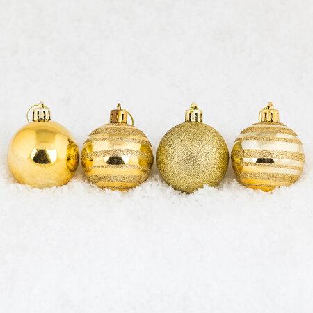 Vianočné gule 12 ks zlatá
