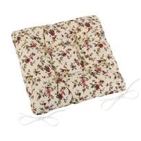 Pernă de scaun matlasată Adéla Floare de vară, 40 x 40 cm