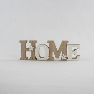 Dekorační nápis Home, hnědá
