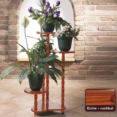 Květinový stolek dub rustikal