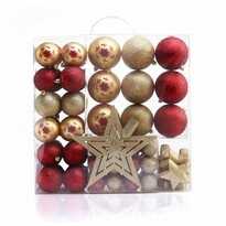 DecoKing Sada vánočních ozdob Susi zlatá, 76 ks