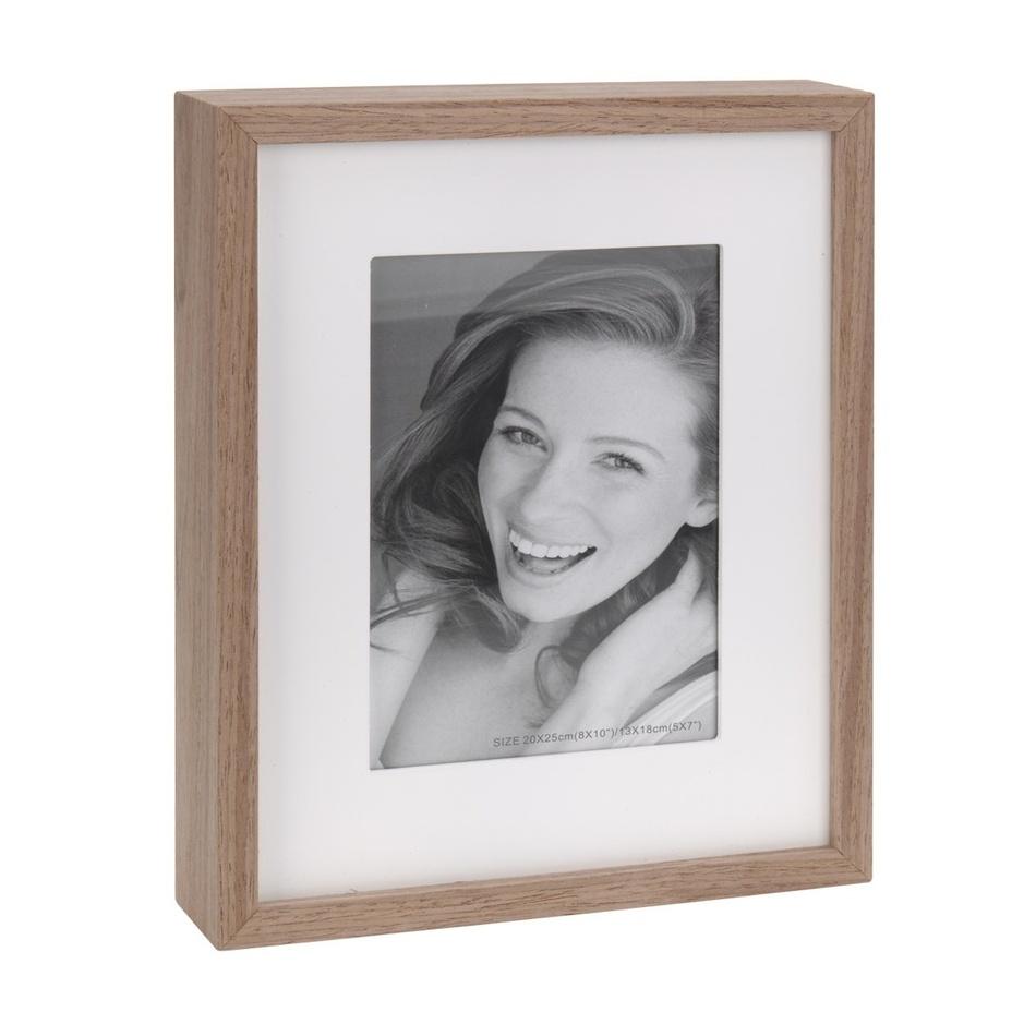 Fotorámeček Wood, bílá + hnědá