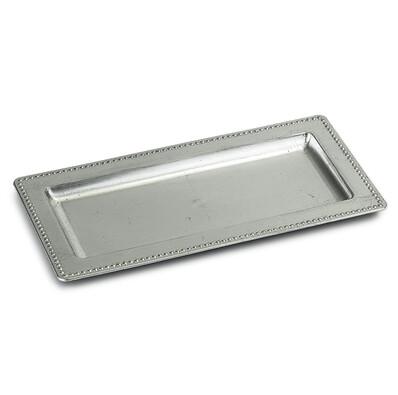 Tác na svíčky 35 x 18 cm, stříbrná