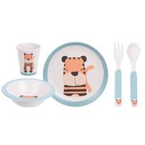 5 részes gyermek étkészlet, Tigris