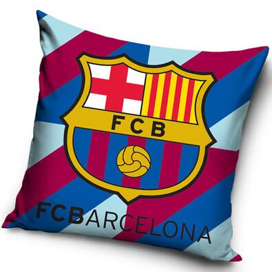 Polštářek FC Barcelona Stripes, 40 x 40 cm