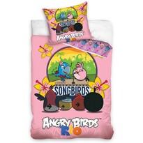 Dětské bavlněné povlečení Angry Birds Karaoke, 140 x 200 cm, 70 x 80 cm