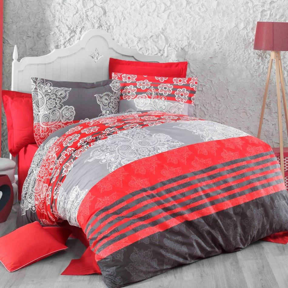 Kvalitex Bavlnené obliečky Delux Stripes červená