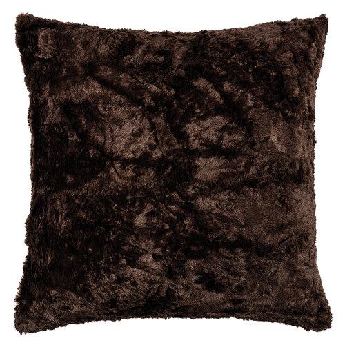 Polštářek Sally tmavě hnědá, 50 x 50 cm