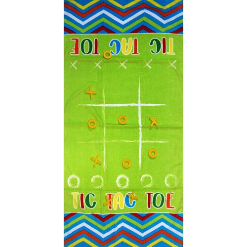 Osuška Hra piškvorky s hracími figurkami, 70 x 140 cm