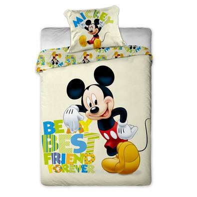 Dětské bavlněné povlečení Mickey letters, 140 x 200 cm, 70 x 90 cm