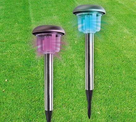 Solární lampy na zahradu, barevná led, sada 2 ks, 41 x 11,5 cm