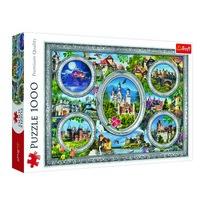Trefl Panoramatické puzzle Světové zámky, 1000 dílků