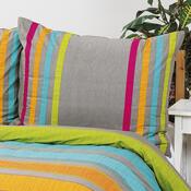 Bavlněné povlečení Elle oranžová, 140 x 220 cm, 70 x 90 cm